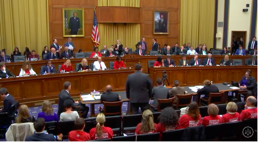 """23 yeses; 15 nos -- applause breaks out. Rep. @lucymcbath: """"For my son Jordan, I vote aye.""""   The House passage of #HR8 marks the first time in several decades that gun violence prevention legislation has passed out of the Committee. 💪💪💪"""