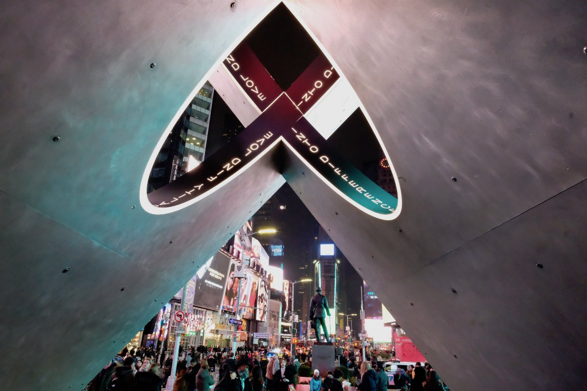 Valentine Heart in @TimesSquareNYC: Straight or upside down, today and every day, #LoveIsLove in our city. Happy #ValentinesDay, NYC!