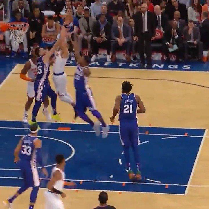🏀#NBA: Kevin Knox throwing down the 🔨 #NewYorkForever  (via: @NBA)