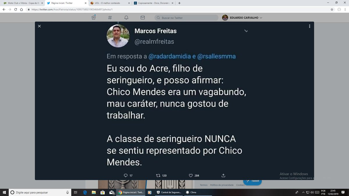 EDUARDO CARVALHO's photo on chico mendes