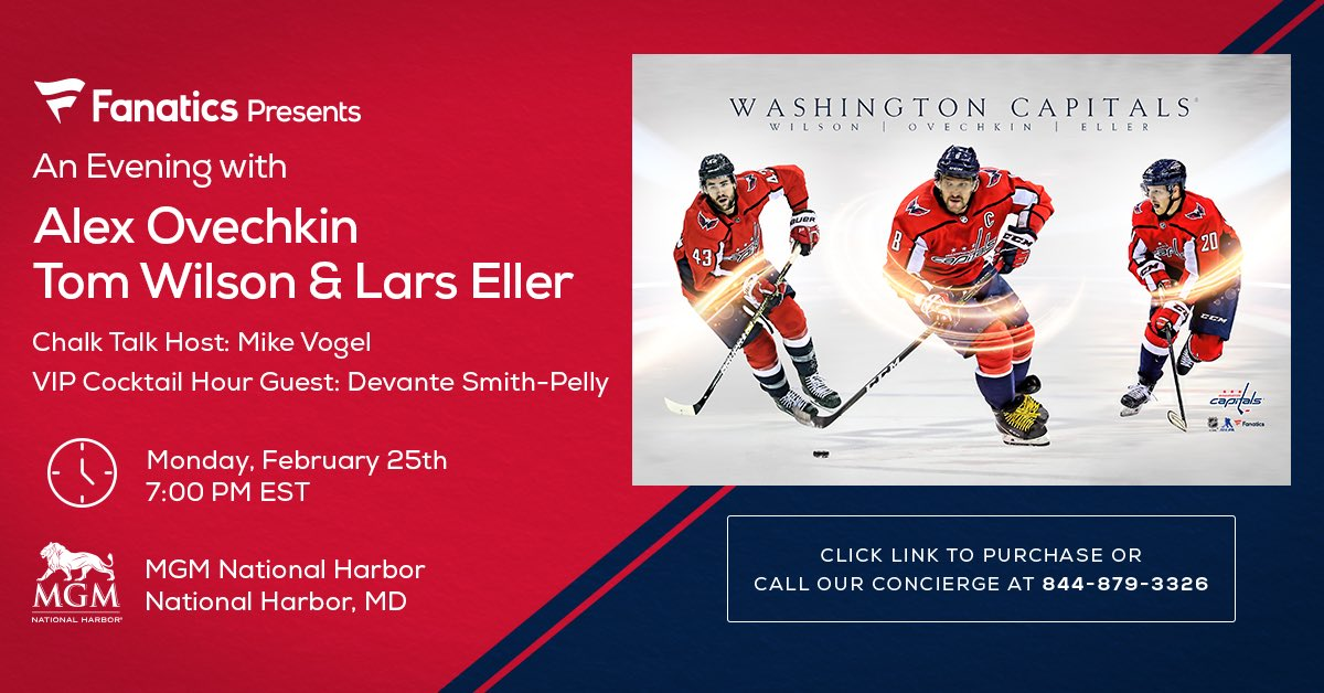 me and the boys will be with Vogs for this @Fanatics special event in DC on feb 25!!!! #ALLCAPS  http://bit.ly/2HFyiaL