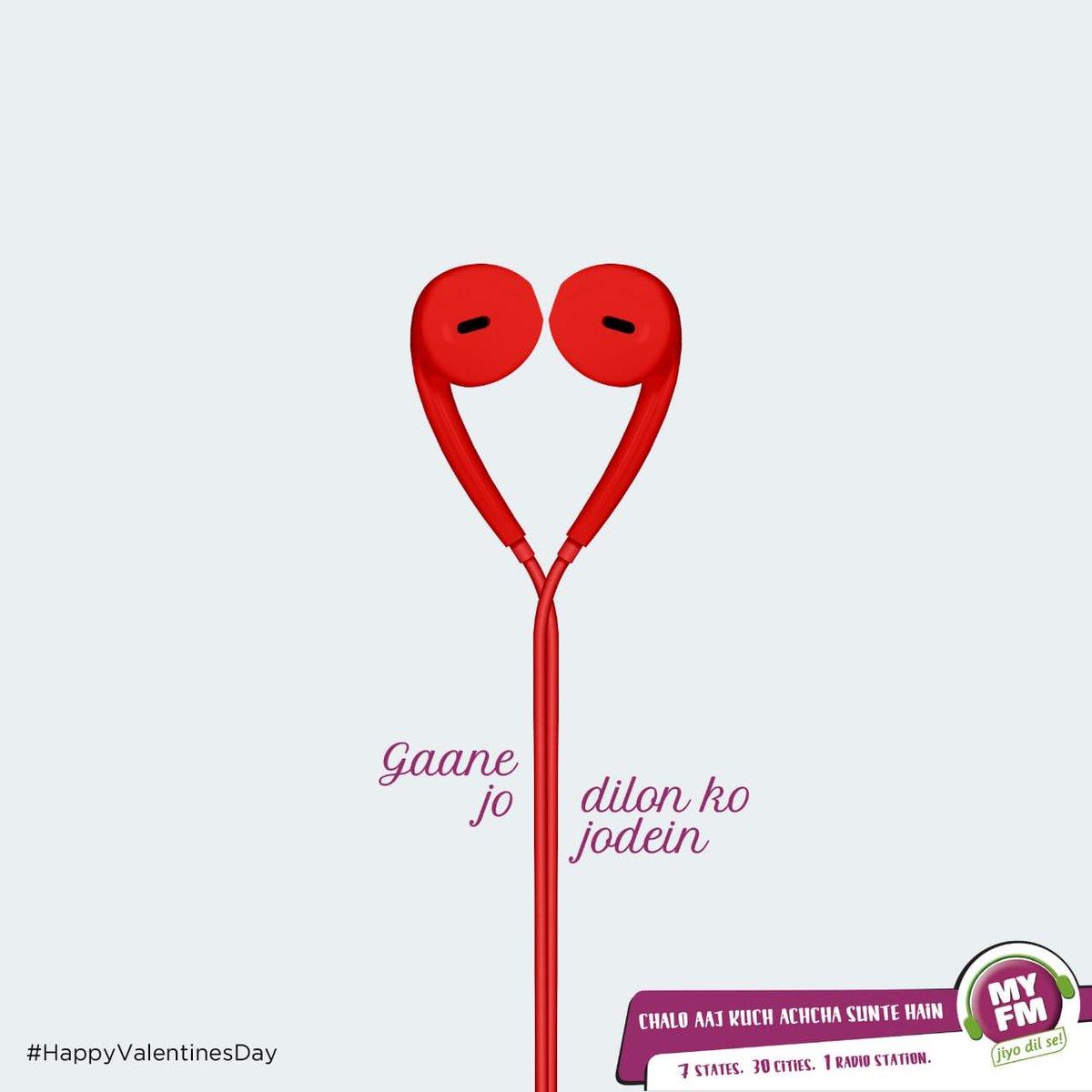 #Gaane jo Dilon ko jodein ! Celebrate #valentines musically with #MYFM #HappyValentineDay