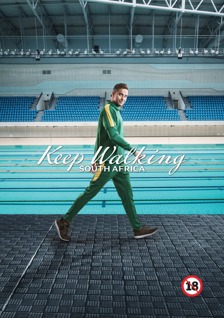 """""""The campaign really resonates with me because... with all the ups and downs in the world of sport, it really resonates with me to stay positive and coming back."""" @chadleclos 