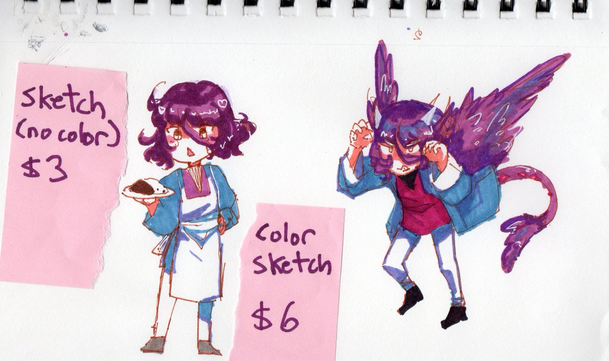 all other commissions closed, currently open are traditional ko-fi coms! visual refs only, no sexual scenarios, complex outfits will be simplified and poses are up to my discretion. couples will be $15. rt&#39;s  appreciated  these are sharpie marker only!  https:// ko-fi.com/vyndahlia  &nbsp;  <br>http://pic.twitter.com/UawCUMt36c