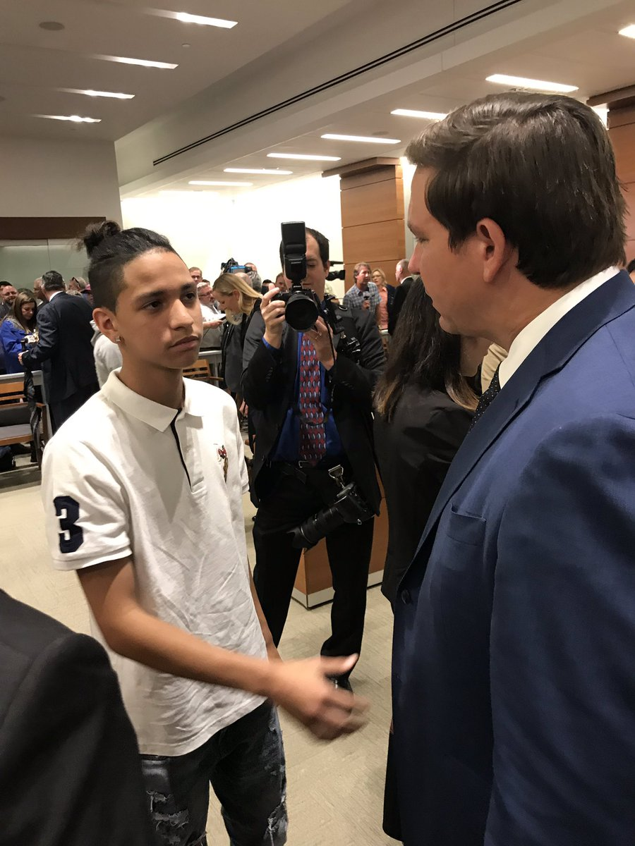 Today I feel more proud of my son for being able to participate in the changes that he has wanted so much since that tragic day. where your life changed forever, thanks @GovRonDeSantis for helping the entire Broward County community to regain confidence in the school system <br>http://pic.twitter.com/wu1E3IpURN