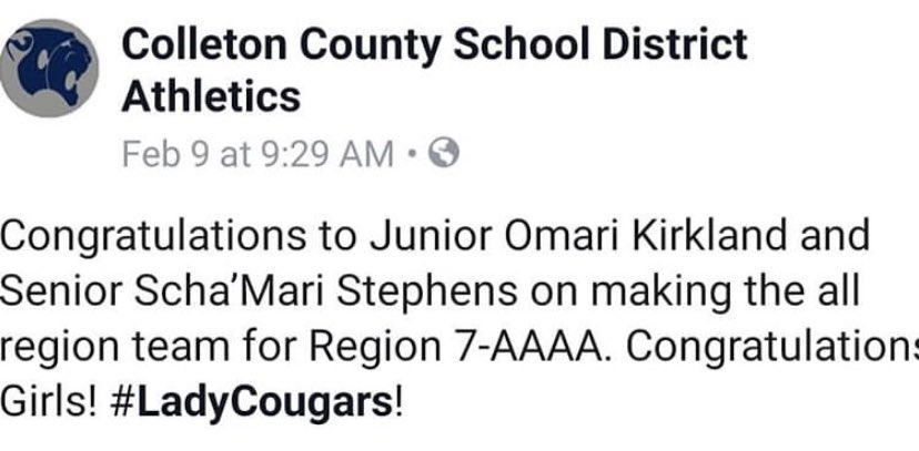 Congrats to Omari for making All Region!!!<br>http://pic.twitter.com/Ak3HYGZPaZ