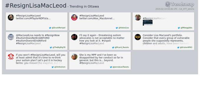 #ResignLisaMacLeod Photo