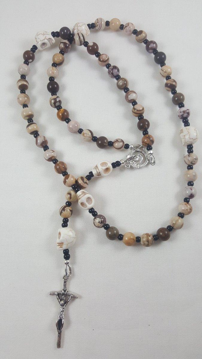 New memento mori rosary for the shop!