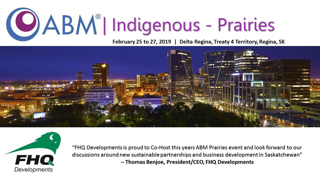 There are over 150+ delegates registered to attend this year's @ABMConnects ! @FHQDev is a proud co-sponsor once again as we have helped see an increase in delegates year over year! Our FHQTC Nations are ready to do business!  #business #indigenousbusiness #matching #partnerships