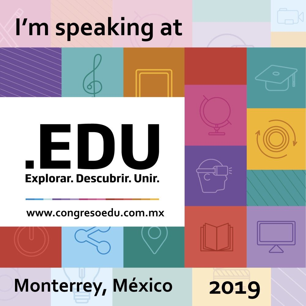 Thrilled to be a part of this incredible conference @EduCongreso! #EDUERRE #EDU19