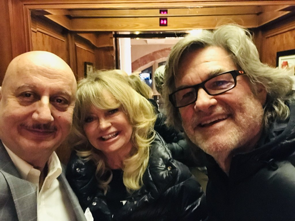 It was such a pleasure to meet the golden couple of Hollywood @goldiehawn and #KurtRussell. Apart from being fantastic actors they are also delightfully wonderful people.🙏😍 #BeautifulEncounters  #AnIndianActorInUS