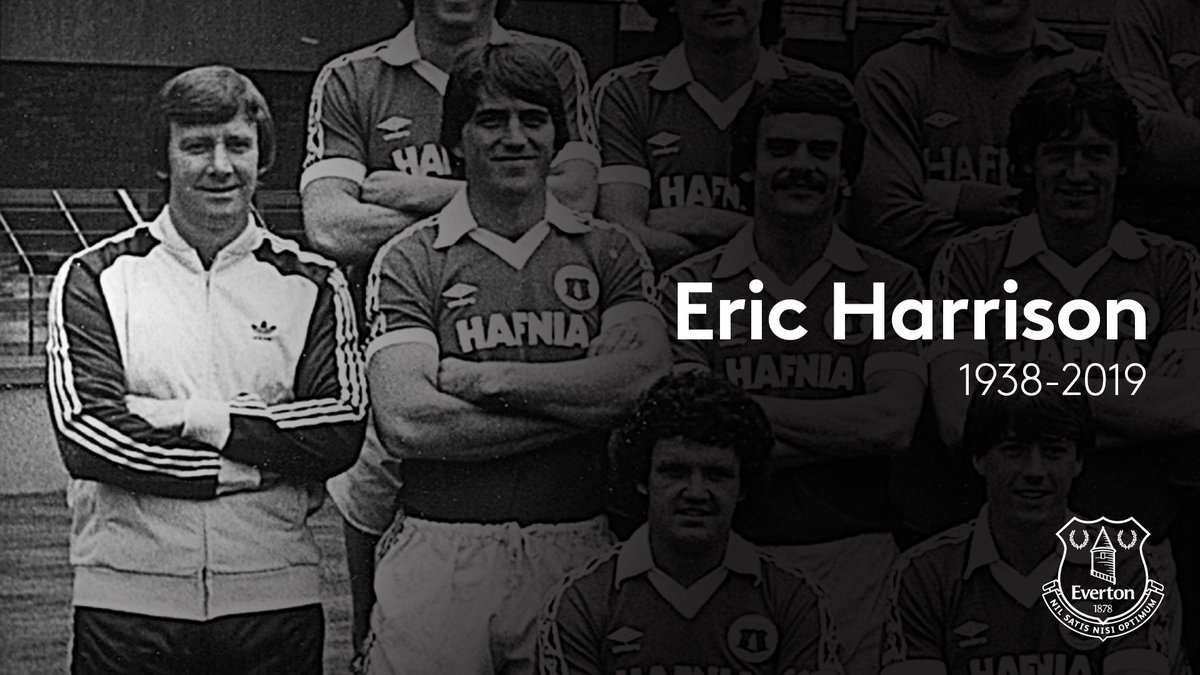We're saddened by the passing of Eric Harrison, youth coach, reserve coach and assistant manager at Everton in the 1970s and early 1980s.   Our deepest condolences go out to Eric's family and friends.