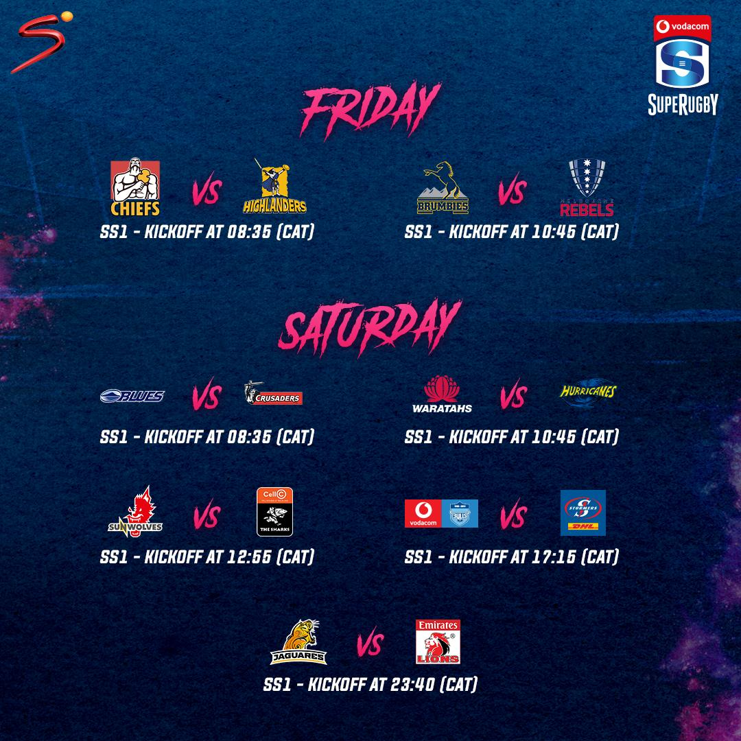 @LuyandaMarenene Vodacom #SuperRugby returns tomorrow 🙌🏉💥  Download the DStv Now app to stream the action on SS1 -> http://bit.ly/SS_NOW Reply #optout to opt-out.