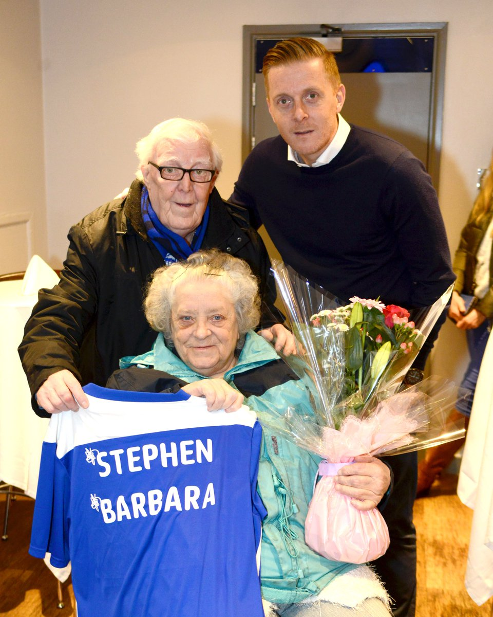 """🗣 """"I jumped in the crowd and jumped on top of her! I thought to myself, that's for me.""""  And 61 years later, here they are.  A proper Blues love story. 💙  #BCFC #ValentinesDay"""