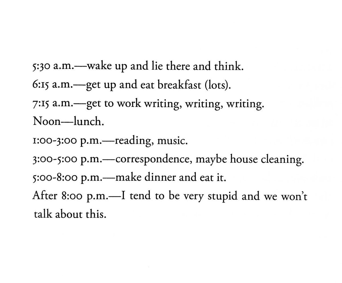 the entire range of the human experience lies between the two poles of Ursula K. Le Guin's daily schedule and Hunter S. Thompson's daily schedule <br>http://pic.twitter.com/eYEfmTciYp