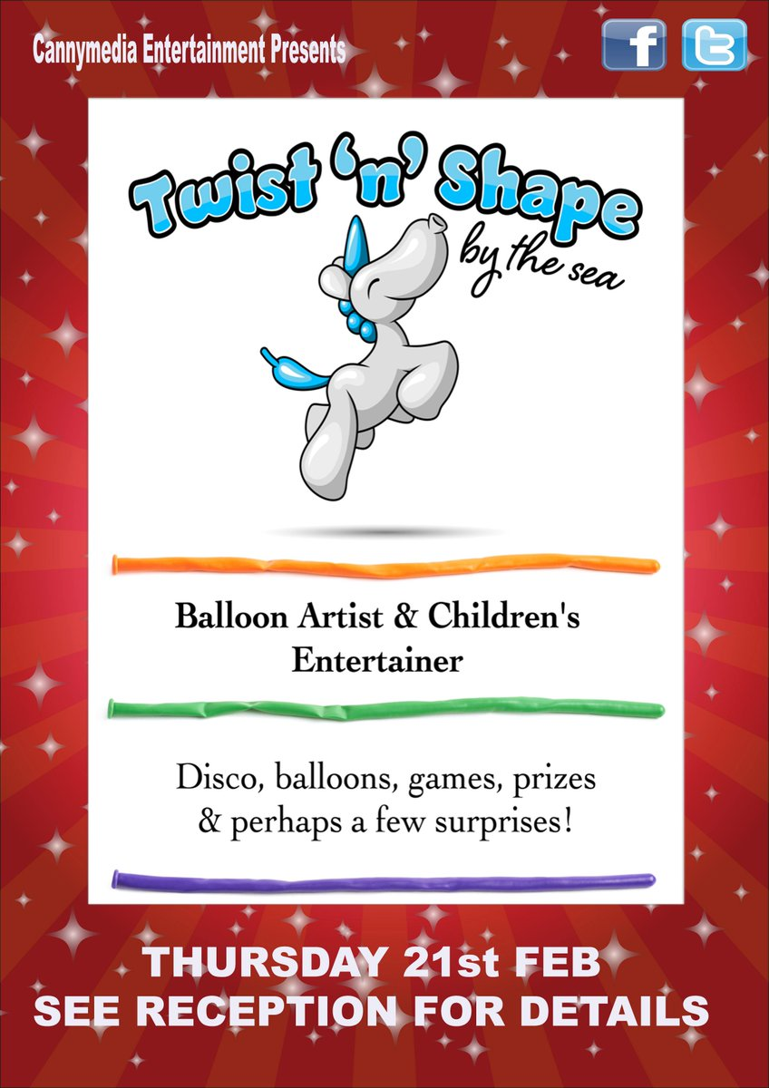 Some exciting news for our younger visitors next week - we have kids entertainer @Twistnshape performing on Thursday, seems like a good reason to visit @amberincromer and try the new menu too! @canny_media #DiamondResorts