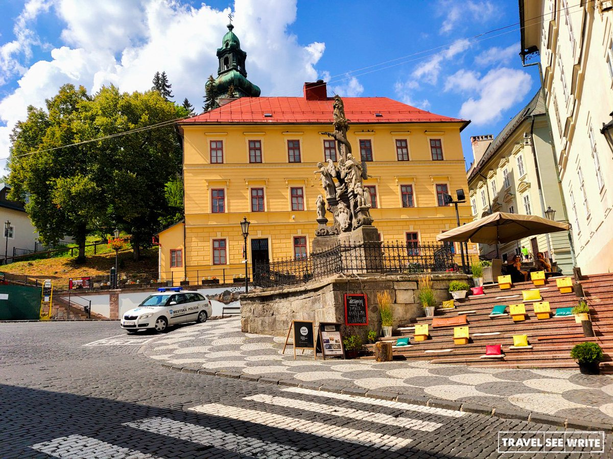 The open cafe of the mining  Silver town  of Banska Stiavnica c355836d673