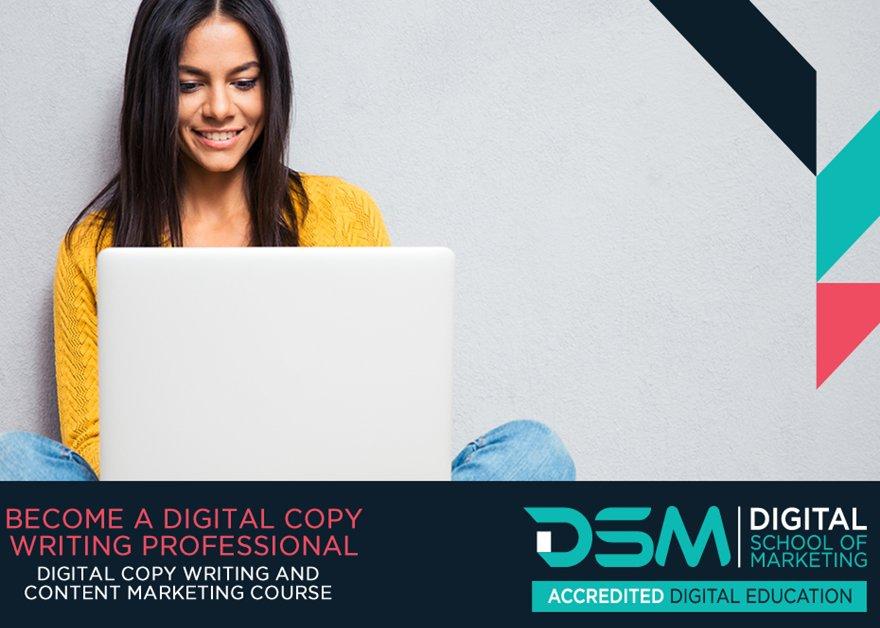 Online Digital copywriting and content marketing course - Register online and start anytime - http://ow.ly/5aY130nFs23 #copywritingcourse #contentmarketing #onlinelearning #marketingeducation #knowledgeispower #digitalmarketing #dsm