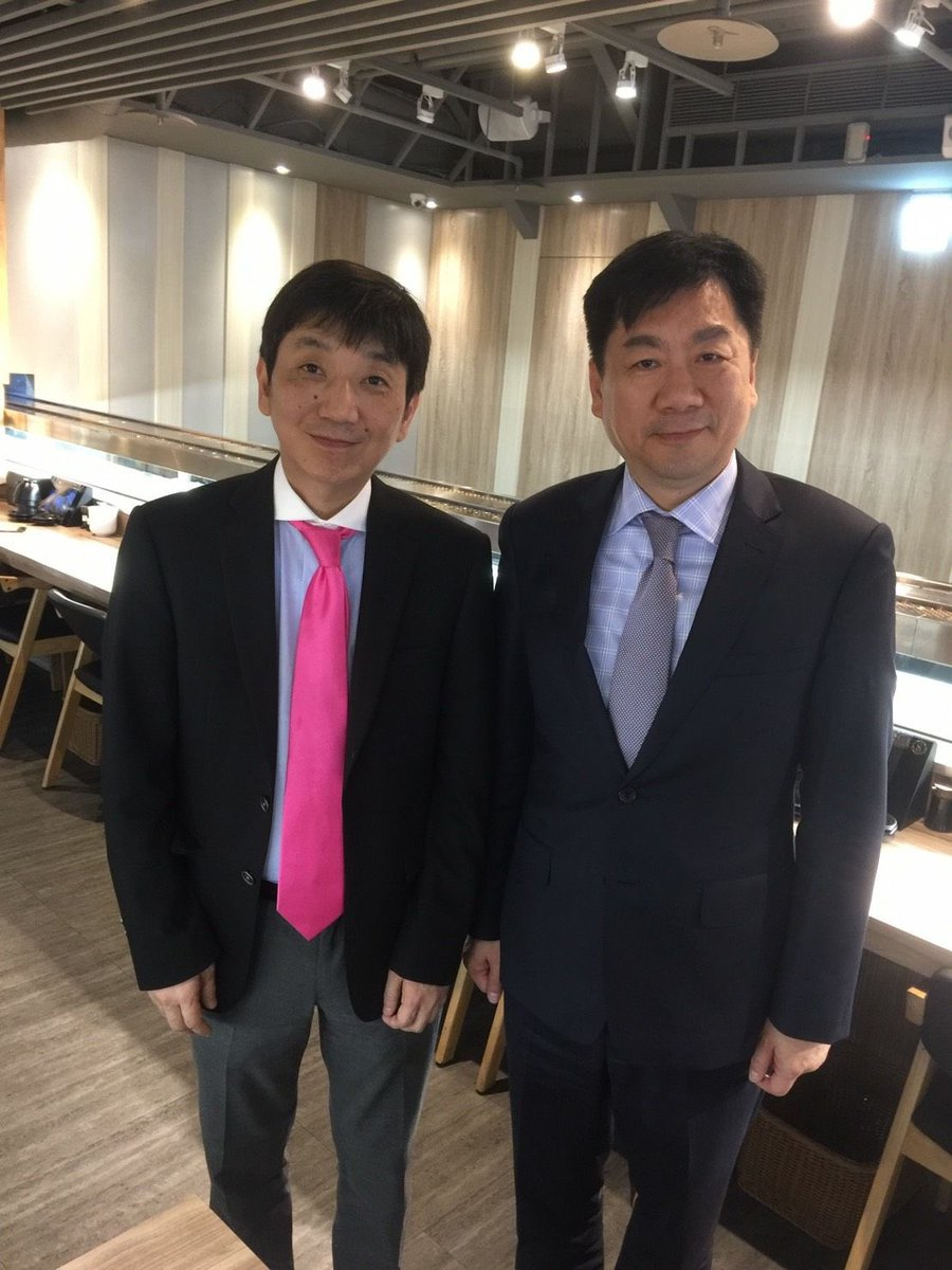 台湾 行政院 内政部次長 総務副大臣と会食