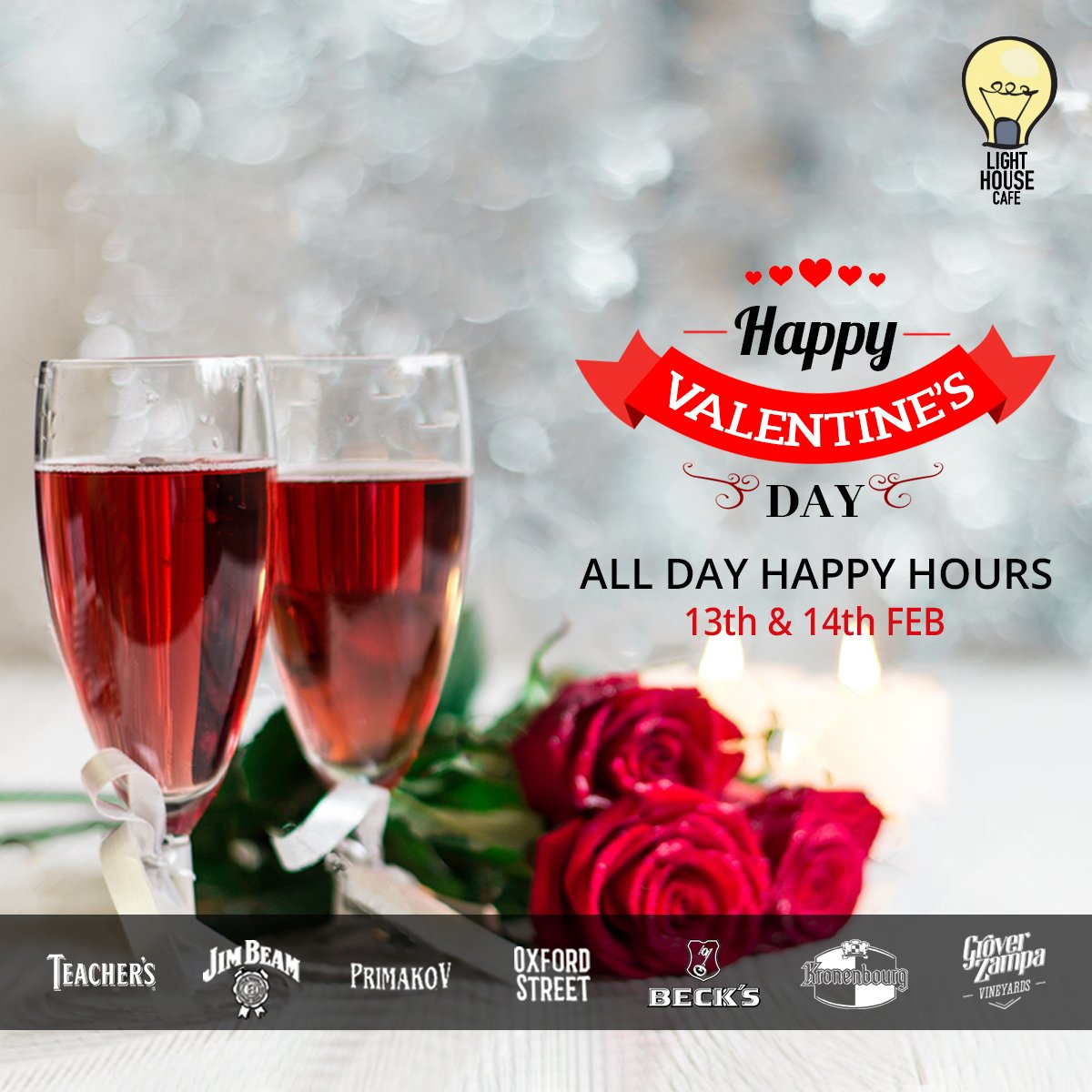 Double up your love and happiness this Valentines as we are celebrating love with our all day long Happy Hours only at Light House Cafe Mumbai  Wishing you all a Happy Valentines Day !!  #LHC #Worli #Mumbai #Zomato #Blogpost #bloggers #Weekday #CurlyTales #Weekends #Thingstodo