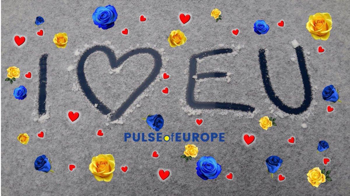 💕 Valentinstag! 💕 Pulse of Europe liebt Europa. #Liebe ist...oft kompliziert. Manche merken erst kurz vor der Scheidung, was die Liebe wert ist. Gemeinsam ist Europa größer als allein.   #Valentines #Valentinstag #FBPE #EuropeUnited #OurEuropeNow #VoteEurope #RevokeArticle50