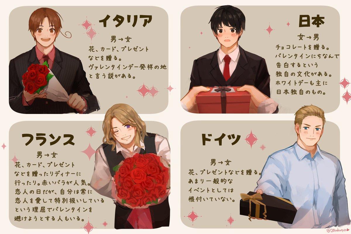 世界のバレンタイン  ※個人調べ