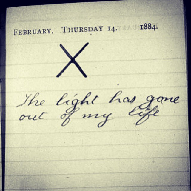Entry in the diary of Theodore Roosevelt whose wife and mother died on the same day.  14th February, 1884