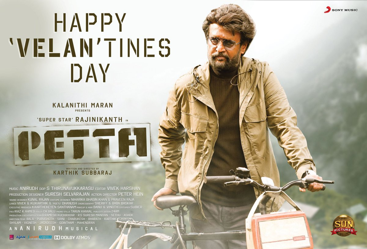 Happy 'Velan'tines day to all .. 😊  A very important day in #Petta story world as the incidents happened this day made our 'Kaali' transform into 'Petta Velan' 😊  #PettaWorldWideBB #valentinesday