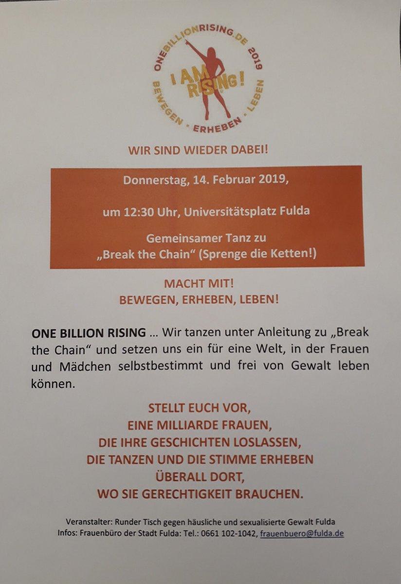Flyer zur Aktion in Fulda