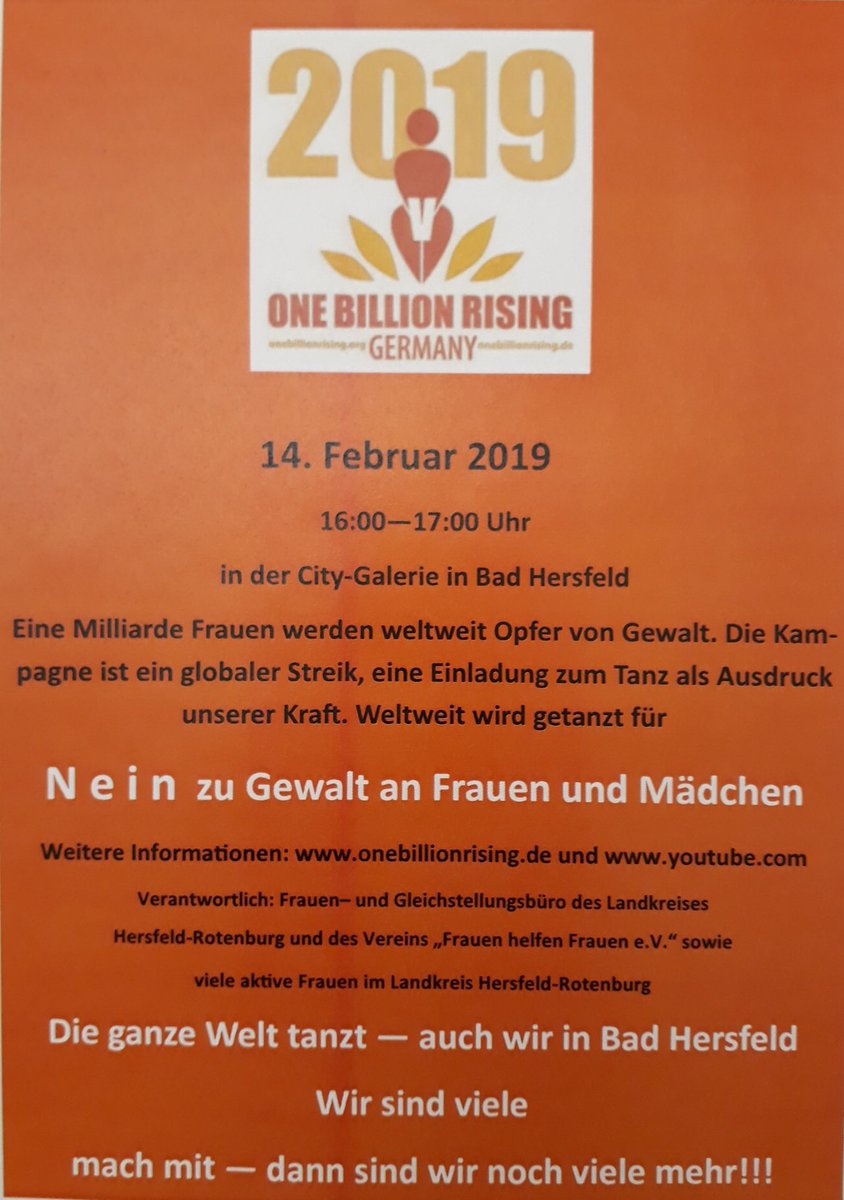 Flyer zur Aktion in Bad Hersfeld
