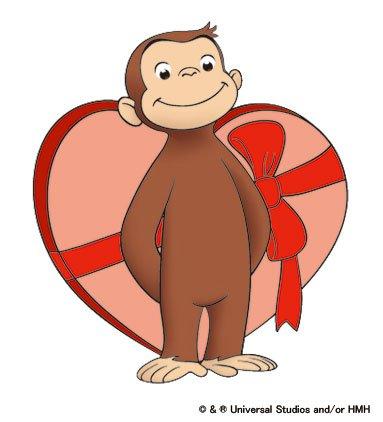素敵なバレンタインをお過ごしください♪ おさるのジョージpic.twitter.com/YyxCJban4K
