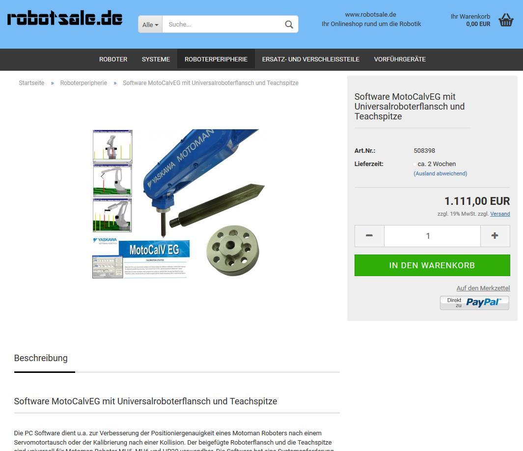 #Software #MotoCalvEG mit #Universalroboterflansch und #Teachspitze für 1.111€ zzgl. MwSt im #Onlineshop: https://www.robotsale.de/product_info.php?info=p20_software-motocalveg-mit-universalroboterflansch-und-teachspitze.html… @robotsale_de
