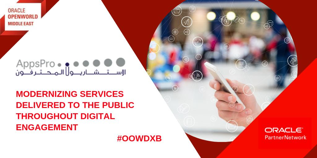 What did we learn at #OOWDXB ? Every industry &amp; organisation must transform itself now. With a dedication to #digitaltransformation @AppsProME is modernizing services delivered to the public throughout digital engagement. Contact the team:  https:// bit.ly/2UC4vkZ  &nbsp;   #emeapartners <br>http://pic.twitter.com/i70GAInpZ1