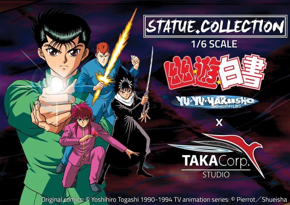 La compañía Taka Corp Studio anuncia que su primera licencia dentro de su línea de estatuas a escala 1/6 es Yu Yu Hakusho.  #yuyuhakusho #Takacorp #StatueCollectors