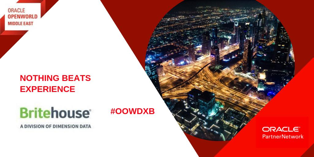 As we look back at #OOWDXB 1 thing stands out Experience! @Oraclepartners @BritehouseGroup recently went live with the largest @Oracle Digital client in the region @BPR_AtlasMara for #Finance in the #Cloud Discover more about their expertise:  https:// bit.ly/2I0HWoJ  &nbsp;   #emeapartners<br>http://pic.twitter.com/41CW3WN05a