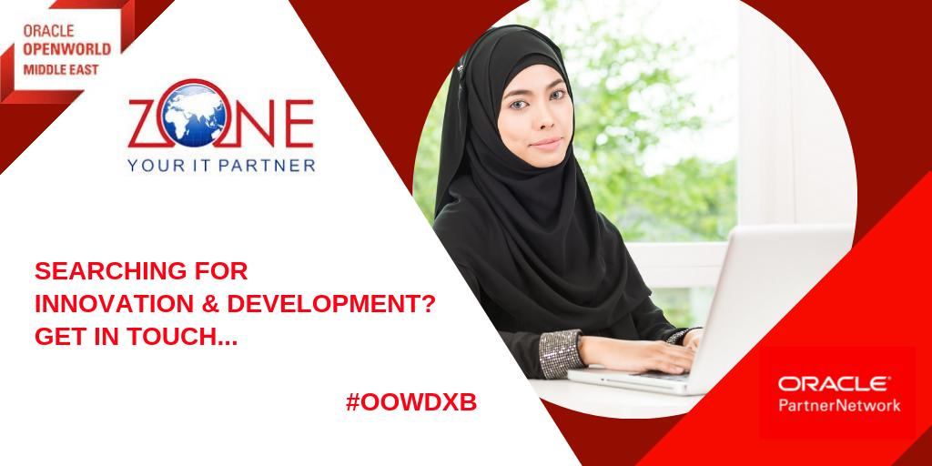 At @OracleOpenWorld Middle East, business &amp; thought leaders brought the future into focus. @Oraclepartners shared their expertise; #emeapartners @ZoneTradingCo showed its dedication to innovation &amp; development. Contact the team &amp; let them help you:  https:// bit.ly/2RG3mHa  &nbsp;   #OOWDXB<br>http://pic.twitter.com/UAdojhwV5g