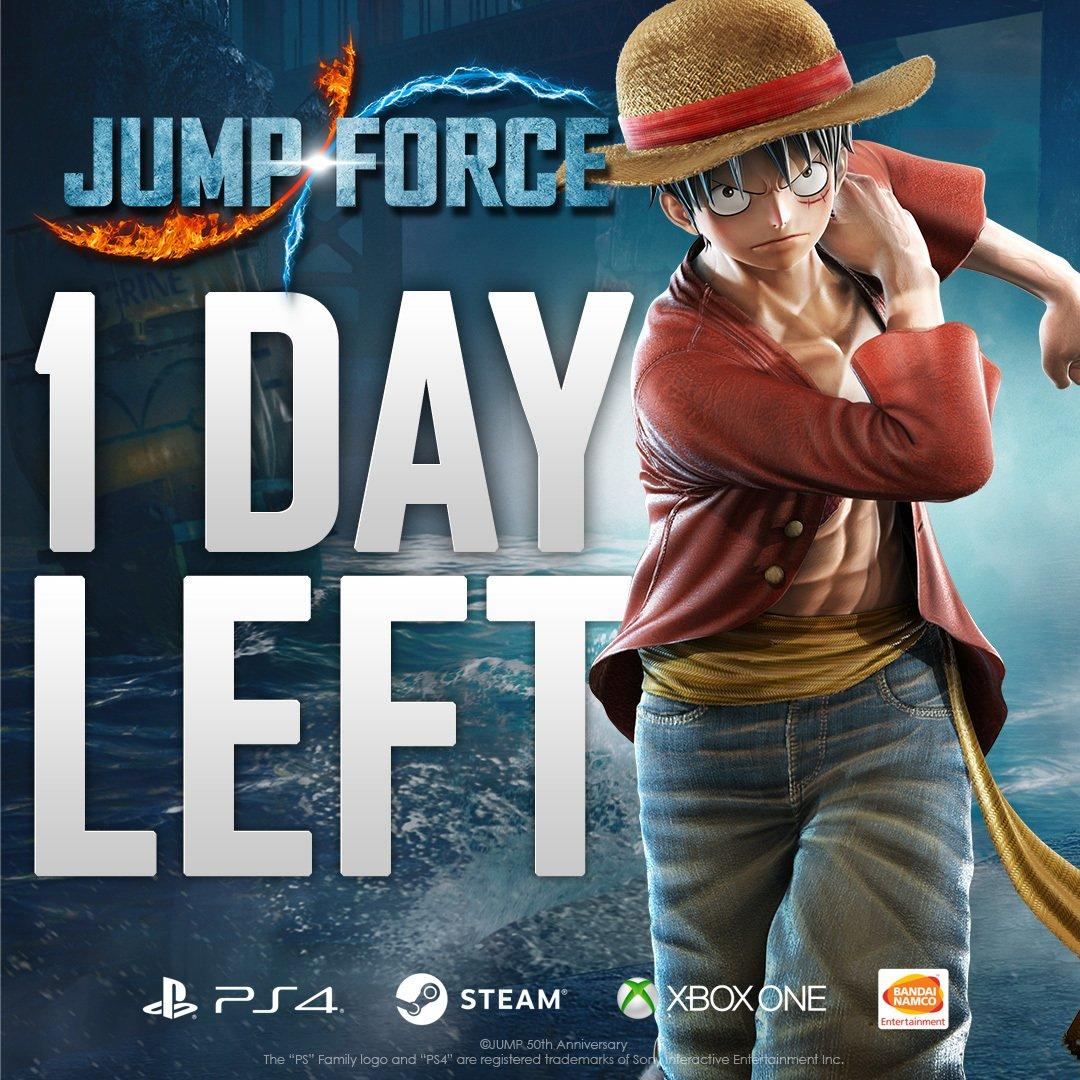 JUMP FORCE uscirà domani. Luffy non vede l'ora di darti il benvenuto nel Team Beta! #unite2fight #jumpforce