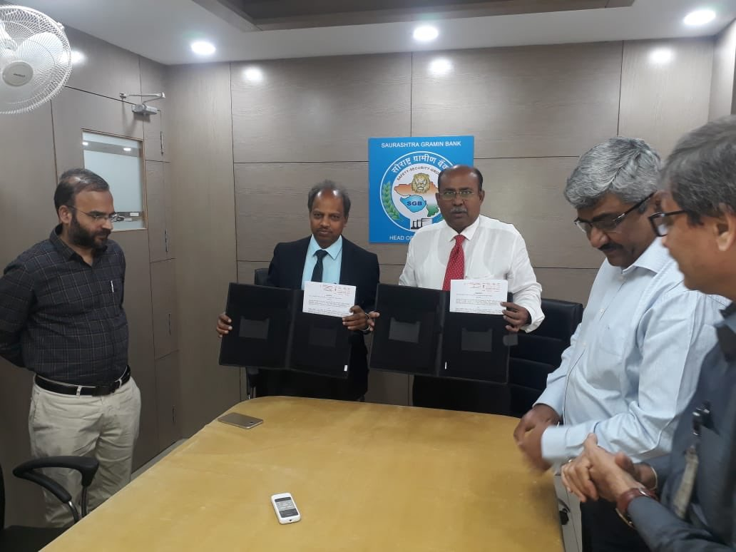 NSFDC and Saurashtra Gramin Bank (sponsored by SBI) signed MoA for providing financial assistance to eligible SC persons at concessional interest rate. This partnership will benefit SC population of 11 districts of Saurashtra region in Gujrat. SGB is the 39th RRB partner of NSFDC