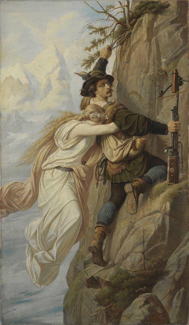 """What is love? Baby, don't hurt me... 🥰 Wir wünschen euch einen schönen Valentinstag! Die Liebe zwischen zwischen diesen beiden verlief leider weniger glücklich. ⛰️💔 Die """"Alpenbraut"""" von Leopold Bode (1864) könnt ihr in der #SammlungSchack erleben... https://www.pinakothek.de/ausstellungen/erzaehlen-bildern-edward-von-steinle-und-leopold-bode…"""