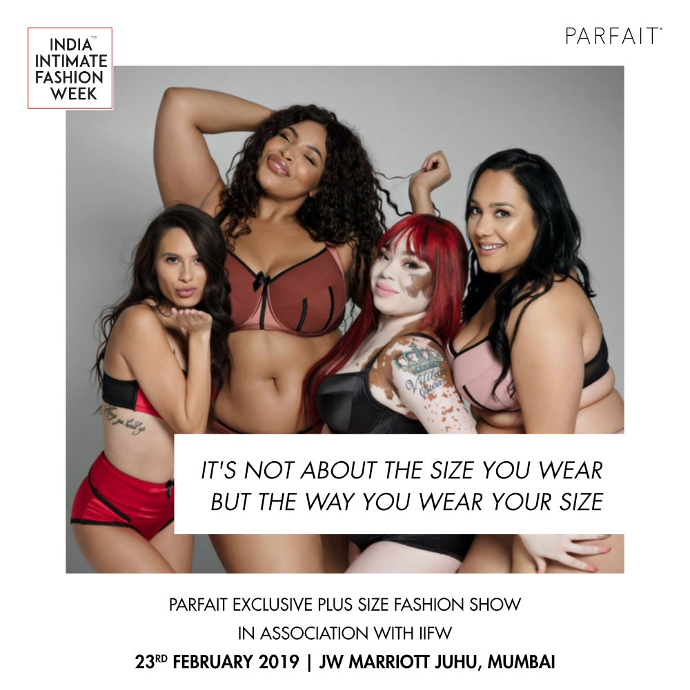 b16df1e92 Join us at the launch show of the globally renowned plus size lingerie Brand