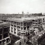 #TBT to the construction of the Cohen Fed Bldg, which initiated the revitalization of SW Wash, DC. The building combines emerging modernism with late 19th century revivalism. Now it is home to @insidevoa @voanews @USAGMgov See more photos: https://t.co/gVrs2WDVPy