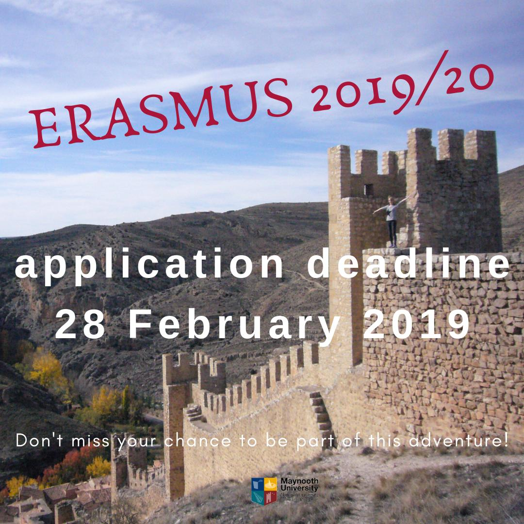 @MaynoothUni students! If you want to study at one of our many partner universities in Europe next semester, enroll in the Moodle course Study Abroad and Erasmus Outgoing 2018/19 and apply till the end of this month! Great opportunity - do not miss! @MaynoothHist