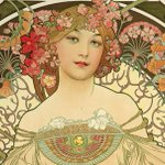 Image for the Tweet beginning: How Alphonse Mucha's iconic posters