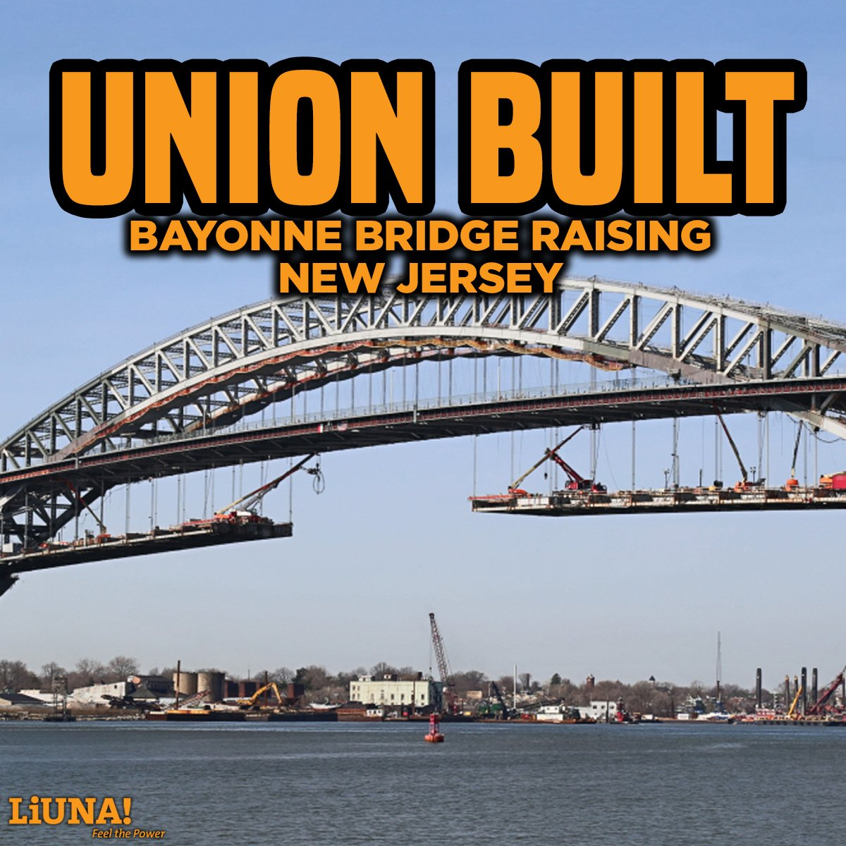 Union built. Union strong. Union proud. #LIUNA #UnionMade #FeelThePower