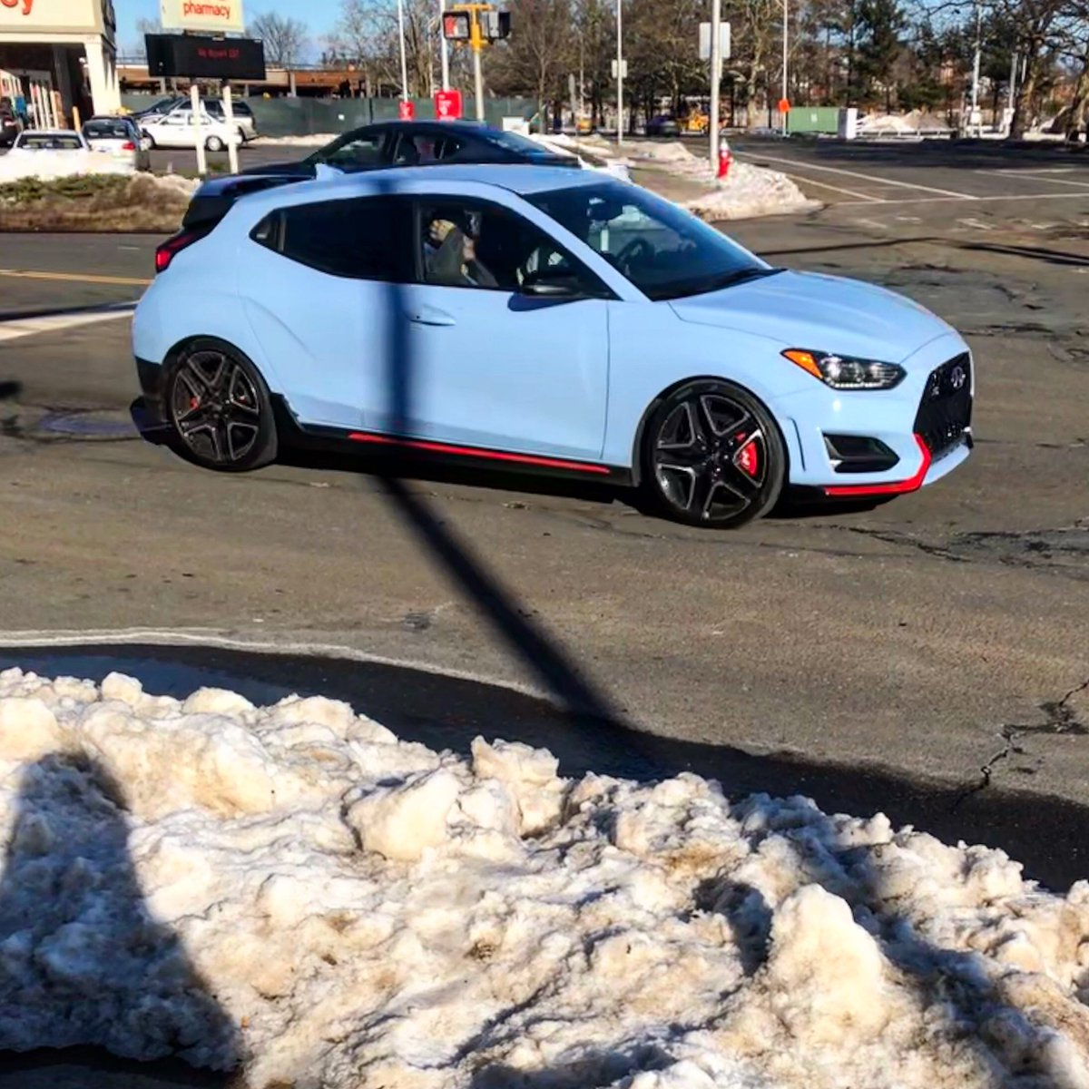 Happy #ValentineDay everyone. I may be celebrating alone, but I did manage to get a picture of a @Hyundai Veloster N on my way to class. Such an underrated car. ❤️