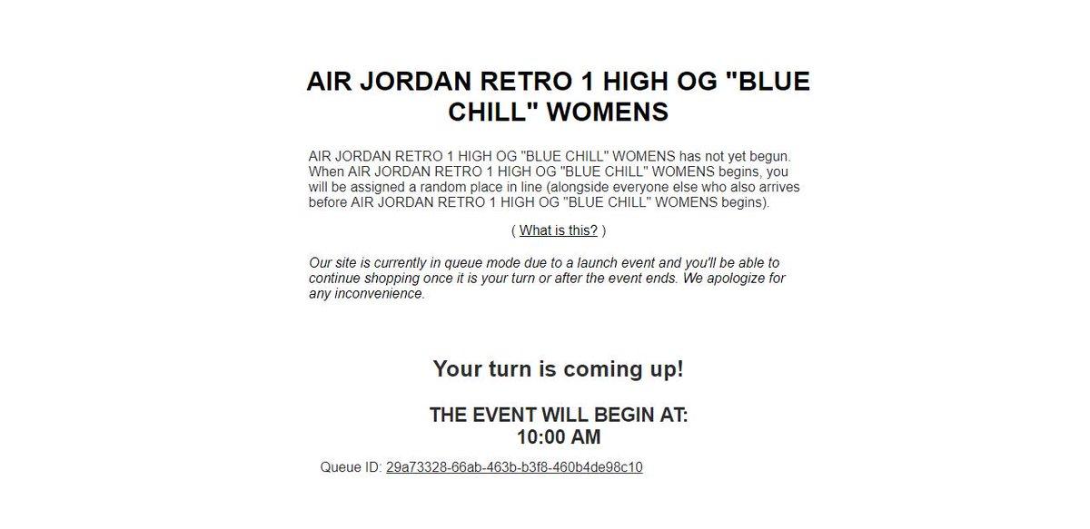 3ef6216b472 ... Air Jordan 1 Retro High OG 'Blue Chill' => http://bit.ly/2GkzHCc pic. twitter.com/4NGctNmIFP. 6:53 AM - 14 Feb 2019