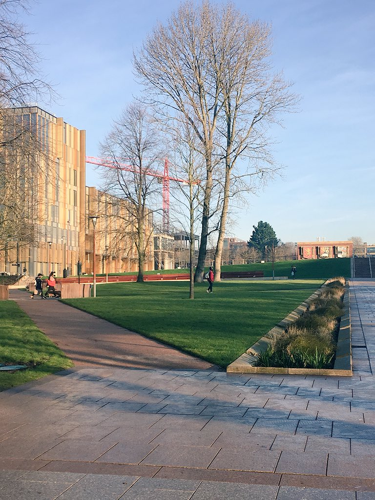 At Uni of Birm for the @mhclg Better Design for Better Places conf on this beautiful morning overlooking the @bdp_com New Teaching and Learning Building http://www.bdp.com/en/projects/p-z/university-of-birmingham-teaching-and-learning-building … #bbcbreakfast DesignQualConf – at University of Birmingham