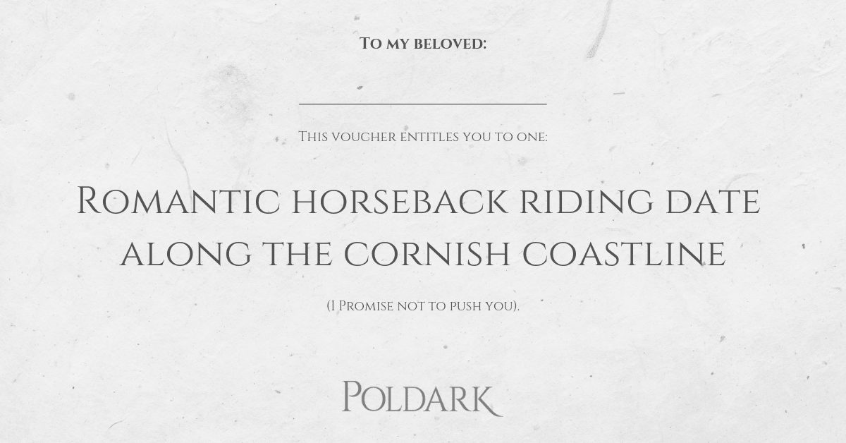 This Valentine's day, give your Poldark-loving other half the gift they really want...#Poldarkthemed http://I.O.Us. 😂