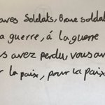 Image for the Tweet beginning: Analysing a French war poem