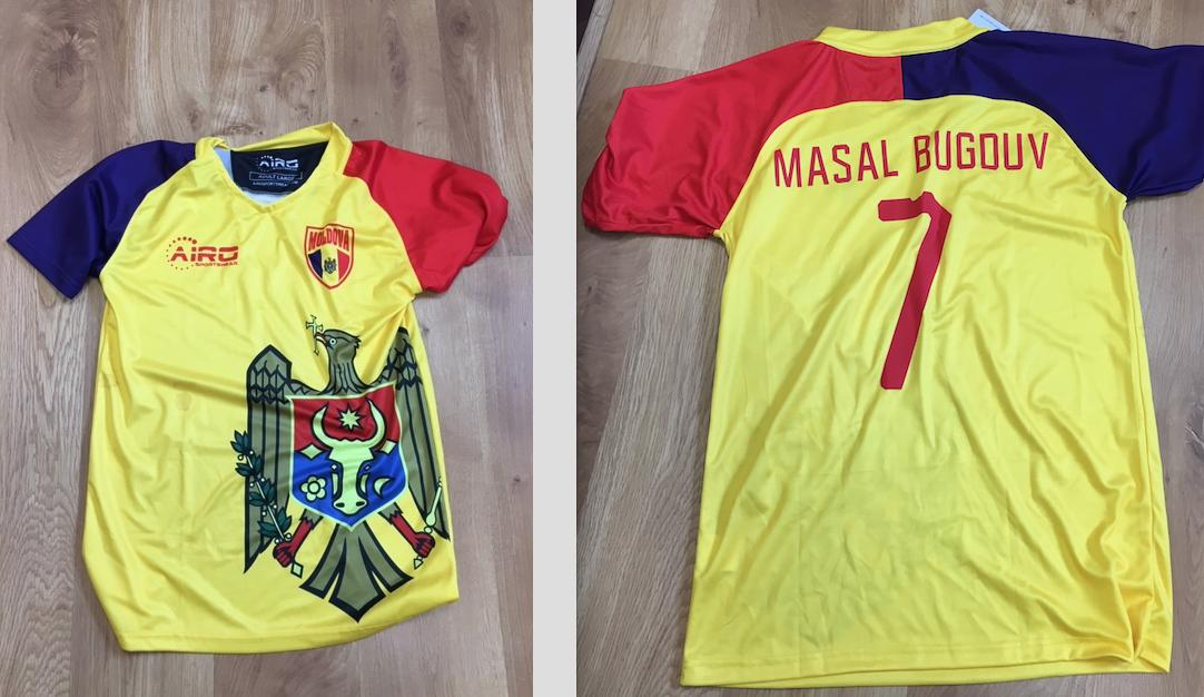 Even the Moldovan fans celebrate Masal Bugduv as their most celebrated player ever. Top selling shirts on the streets of Moldova. Thanks to @CoynesBar for discovering this. #bugduvtrulyirish #loyalbugduv #nodeclanrice